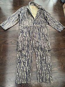 PELLA Rugged Outdoor Camo Camoflage Treebark Hunting Suit Coveralls Mens Sz XXL