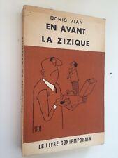 Boris Vian E/O En avant la Zizique couverture PIEM complet ex-libris C.L 1958