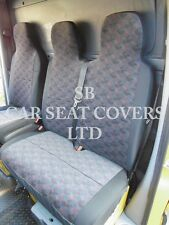 FORD TRANSIT VAN SEAT COVERS -CHARCOAL BRICK SINGLE + DOUBLE