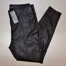 Faux Leather Slim, Skinny, Treggings High Trousers for Women