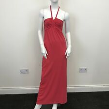 Atmosphere Ladies Pink Halter Neck Ruched Long Full Length Maxi Dress UK Size 8