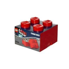 Lego Storage Brick Block Box Medium 4 - Movie Collection - Red - Toy Box - New