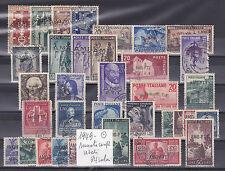 ITALIA 1949-TRIESTE A  ANNATA COMPLETA 34 VALORI USATI SELEZIONATI E SPLENDIDI