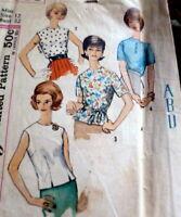 *LOVELY VTG 1960s MONOGRAM BLOUSE  Sewing Pattern 12/32