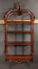 Chinese Chippendale style mahogany hanging shelf with arched and carv... Lot 305