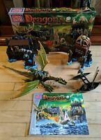 Mega Bloks Dragons Krystal Wars Marauder's Cliff Playset. Fantasy Building Set.