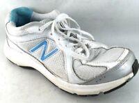 New Balance 496 NB Women's Walking Running Tennis Shoes Size 8B White Blue x40