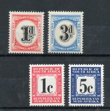 small collection of 4 mint postage due stamps from south africa