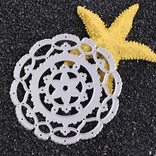 DIY Paper Template Manual Die Cut&Embossing Machines Cutting Tool Round Flower
