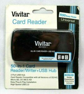 Vivitar 50 in 1 Card Reader/Writer + USB Hub