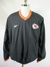 E4256 VTG REEBOK Kansas City Chiefs NFL Football Pullover Jacket Size XL
