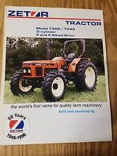 Zetor Tractor Model 7320 / 7340 3 cylinder Specification sheet