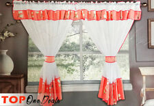 Amazing Voile Net Curtains Ready Made Living Dining Room Grey Red Beige Green
