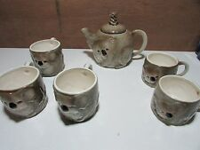 AUSTRALIAN POTTERY GEMPO KOALA TEAPOT AND CUPS