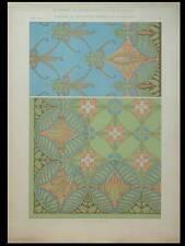 PLAFOND DECORATION MURALE, HEUKELOM -1901- LITHOGRAPHIE, ART NOUVEAU