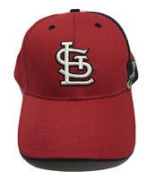St. Louis Cardinals Red Blue Bird Text Logo Baseball Genuine MLB Dad Hat Cap 🧢
