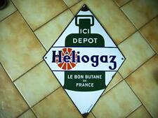 plaque métal émaillée héliogaz losange format 60 x 42 cm émaillerie alsacienne