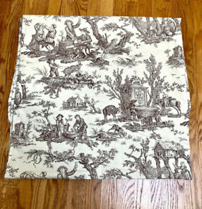 """Pierre Frey  French Toile Duvet  Cover Reversible Ivory/ taupe 102""""x87"""" France"""