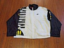 VTG 90's Nike Challenge Court White Navy Yellow Windbreaker Jacket Agassi sz L