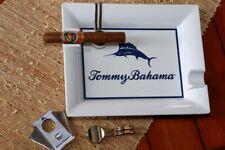 Tommy Bahama Cigar Ashtray W/ Metal Cigar Rest Clip Indoor Outdoor Cigar Ashtray