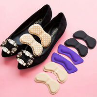 2X Sticky Fabric Shoes Back Heel Inserts Insoles Pads Cushion Liner Grips Fi