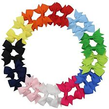 """QtGirl 24 Pieces 2"""" Mini Pinwheel Pigtail Hair Bows with Clip for Girls Women..."""