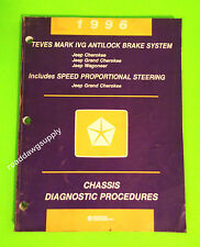 1996 Jeep Cherokee Grand Cherokee Wagoneer Chassis Diagnostic Service Manual