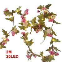 2M 20 LED Flower String Fairy Lights Vine Wedding&Hanging new Garland Home I4K7