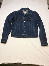 Vintage Lee Patd-153438 Made In Usa Size 40L Mens Denium Jean Jacket
