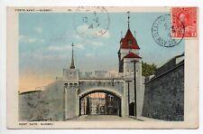 CANADA carte postale ancienne QUEBEC la poste kent   kent gate