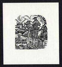 EXLIBRIS,375b - Jan Battermann ( Holland ) Don Quijote