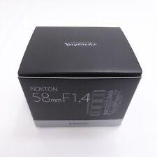 Voigtlander 2016 Nokton 58mm F1.4 Sl II AI-S Plata Borde para Nikon F Mount Nib