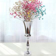 60cm Large Stunning Silver Iron Luxury Flower Vase Urn Wedding Table Home Decor