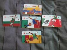 94 World Cup $10 Sprint Calling Cards - Lot of 5 Different Collectible Cards