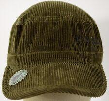 Green corduroy 2 panel with bottle opener breton hat cap adjustable.