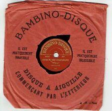 78T 15 cm Pygmo Disque Phonographe CHOEUR DES CHASSEURS Chanté BAMBINO 23 RARE