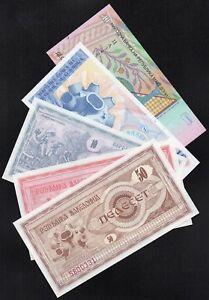 MACEDOINE , FYROM , 5 Billets NEUFS ; 1992-93,2011  /  L19