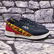 Fila Original Fitness Tape Men's Blue Red Yellow Lace Up Sneaker Size 8.5