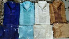 USA,Men desi,India,Pakistan,kurta pajama,Churidar, Salwar Kameez Blue,Cream,Gold