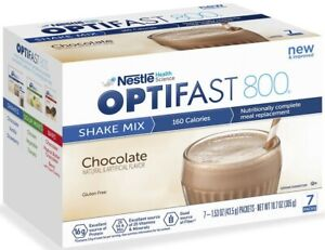 NEW OPTIFAST 800 POWDER SHAKE   CHOCOLATE   1 CASE   84 SERVINGS  EXP: 01/2023