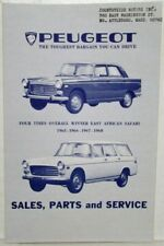 1969 Peugeot US & Canadian Dealer Directory by State/Province inc Puerto Rico
