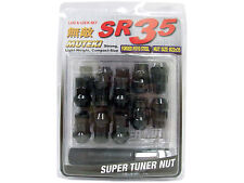 MUTEKI SR35 20PCS WHEELS TUNER LUG + LOCK NUTS (CLOSE END/12X1.5/BLACK) #