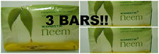 3 BARS! Swastik Neem Soap 70 grams w/ Eucalyptus Oil USA SELLER FAST SHIPPING