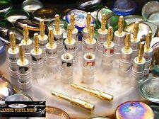 ♫ 10 PAIRES FICHES BANANE NAKAMICHI GOLD ENCEINTES VINTAGE ♫