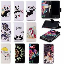 Animal Wallet Case Flip PU Leather Stand Cover Slot For iPhone Motorola LG Nokia