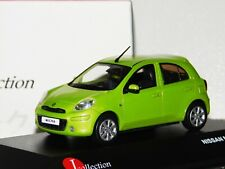 NISSAN MICRA 2010 GREEN J COLLECTION JC201 1/43
