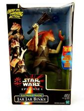 "1999 Star Wars Episode I Jar Jar Binks Electronic Talking 12"" Action Figure NEW"