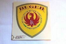 """Rare Vintage RUGER Decal """"30 Years of Ruger Firearms-1949-1979""""-Water Transfer"""