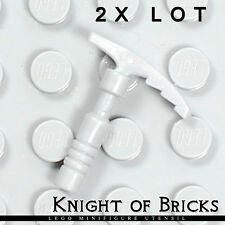 Lego 2x Lot Minifigure LIGHT GRAY Ice Pick Arctic Snow Icebreaker Axe Tool