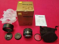 Nikon Nikkor Af-S 50mm F/1.8G Lens - Mint! - Boxed w/Accessories + Filter.